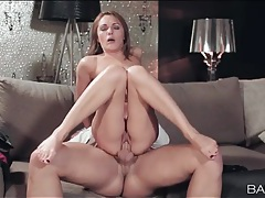Hard cock pumps the cunt of a babe in a dress tubes
