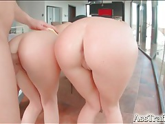 Sweet anal whores share his dick and hot load tubes
