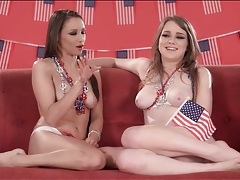 Topless interview with a pair of bubbly pornstars tubes