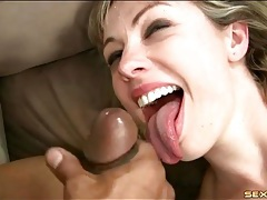 Shaved white pussy gets off with bbc inside it tubes