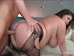Fucked fat girl receives his hot load of cum tubes