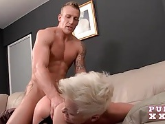 Short hair punk slut bree branning rides a large dick tubes