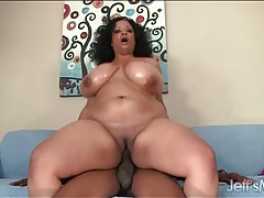 Bbc bangs a fat black girl in her tight pussy tubes