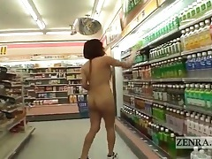 Asian cutie takes cash to go shopping naked tubes