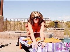 Poolside bikini tease play with a hot pornstar tubes