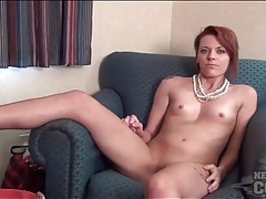 Nude amateur in a hotel room has sexy little tits tubes