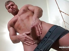 Twink lubes his dick and stuffs it up a tight ass tubes