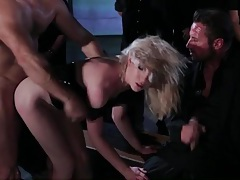 Wild and wet gangbang with two babes hammered tubes