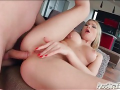 Ass to mouth slut swallows a hot load of cum tubes