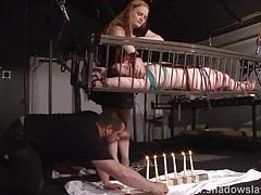 Caged american fetish model caroline pierce tubes