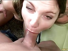 A wet blowjob gets him ready to fuck this hottie tubes