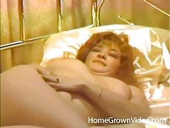 Vintage finger fucking with a sexy brunette wife tubes