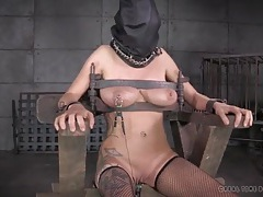 Bound and hooded girl wants to be released so badly tubes