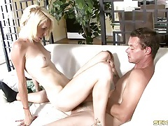 Skinny girl riding dick kisses her man tubes