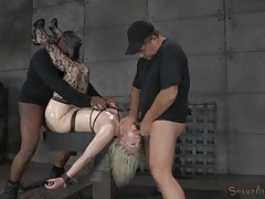 Titties tied up tight on the girl they dominate and fuck tubes