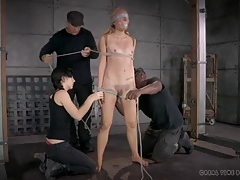 Delicate and intricate bondage makes her suffer tubes