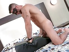 Hot solo guy uses sex toys for his gorgeous cock tubes