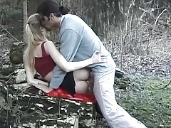 Couple caught fucking doggystyle outdoors tubes