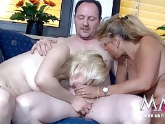 Great cocksucking from the blonde gets his dick hard tubes