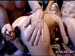 Anal toys and big cocks stretch her nasty hole tubes