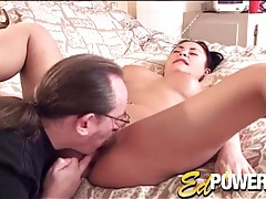 He is a dedicated pussy licker for this cute chick tubes
