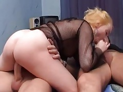 Pierced and collared girl fucked by two dudes tubes