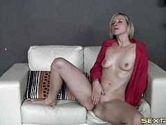 Amateur in leopard print panties rubs her pussy tubes