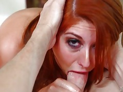 Rose red gives the sloppiest blowjob possible tubes