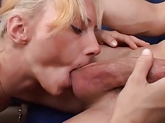 Nut licking and good head from a tattooed milf tubes