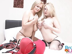 Big natural tits in red bras on two sexy babes tubes