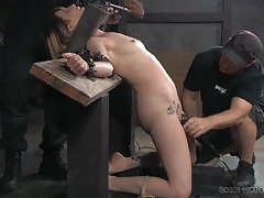 Her tears of pain are real as guys abuse the girl tubes