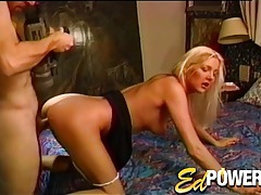 Vintage doggystyle with a lovely blonde girl tubes
