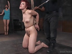 Excellent rope bondage for a skinny redhead tubes