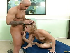 Footjob excites his cock for a nice blowjob tubes