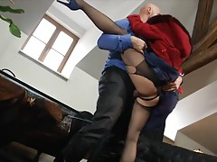 After work hardcore sex with a ripped pantyhose girl tubes