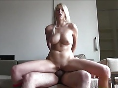 Babe with a great body happily fucks a fat guy tubes