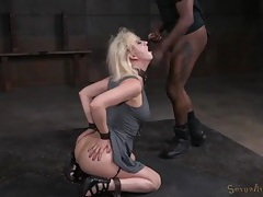 Chained blonde in a dress fucked like a sex slave tubes