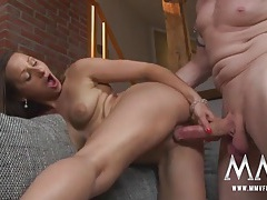 Fat old dude dick fucks a hot young lady tubes