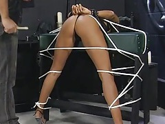 Tied up girl finger banged by her master tubes