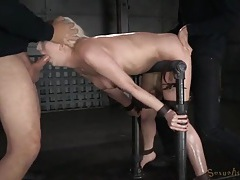 Bound slut spit roasted by her two masters tubes