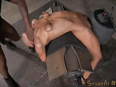 Small titty girl tied up tight and face fucked tubes