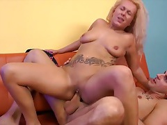 Nipple and clit rings on this fucked blonde girl tubes