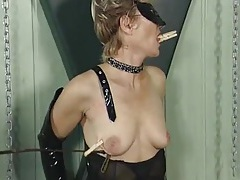 Submissive milf ends her scene with a painful red ass tubes