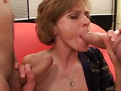 Two facials for a skinny milf cocksucker tubes