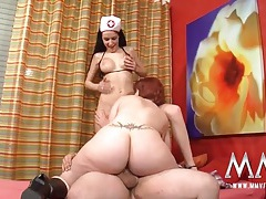 Chubby milf nurse sits her cunt on a dick tubes
