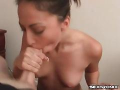 Cock eating girl gives a nice titjob tubes