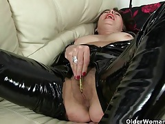 Sultry milfs love anal play tubes