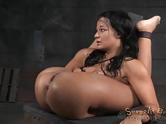 Bdsm slut bent like a pretzel and fucked hard tubes