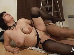Thick cock fucks a chubby ass mature babe tubes