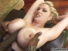 Fake boobs hottie katie kox loves black boner tubes